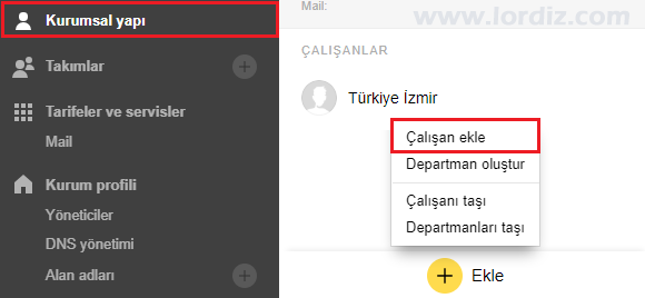Yandex Connect Mail Ekleme