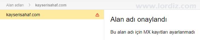 Yandex Connect MX sonucu